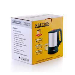 Krypton KNK6011 1.7Liter Stainless Steel Kettle, Electric Kettles, Cordless Fast Boil For General Use - 360 Rotation, Automatic Cut-Off, Stainless Steel Body, Over Heat Safety Protection