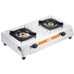 Krypton KNGC6003 2-Burner Gas Hob/Cooker - Attractive Design, Gas Range 2-Burner Stove Cooktop, Auto Ignition, Outdoor Grill, Camping Stoves  Stainless Steel Body   Ideal For Small & Big Kitchens