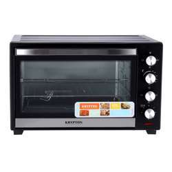 Krypton KNO5322 60L Electric Kitchen Oven - Powerful 2000W With Crumb Tray, 60 Minutes Timer & Rotisserie & Convection Function | 4 Selectors For Baking & Grilling | 4 Accessories Included