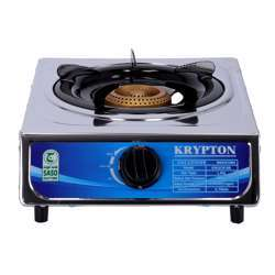Krypton KNGC6168 Single-Burner Gas Hob/Cooker - Attractive Design, Gas Range Single Burner Stove Cooktop, Auto Ignition, Outdoor Grill, Camping Stoves  Stainless Steel Body
