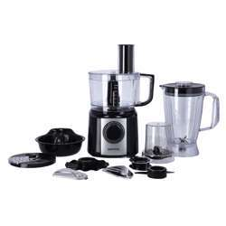Krypton KNFP6239 10 In 1 Food Processor 800W - 2 Speed With Pulse, Overheat & Child Safe | Double Safety Lock |10 Variable Attachment | Ideal For Slicer Shredding Grinding & More