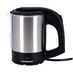 Olsenmark OMK2048 Electric Stainless Steel Kettle, 0.5L - Stainless Steel Body - Auto Shut-Off On Boiling - Boil Dry Protection - Pilot Lamp - 1100W | 2 Years Warranty