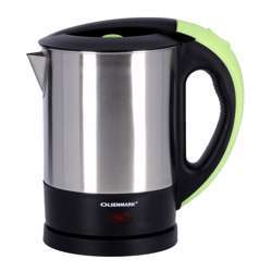Olsenmark OMK2253 Electric Stainless-Steel Kettle, 1L - Concealed Heating Element - 360-Degree Rotation - Automatic Power-Off When Water Boils And When Dry Boil - Cb Certification-2200W | 2 Years Warranty