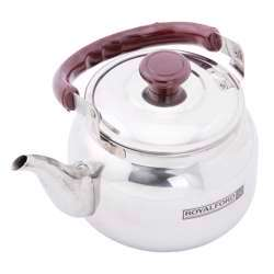 Royalford RF6188 0.75 Litre Stainless Steel Tea Kettle - Portable Lightweight Coffee, Tea Kettle With Lid Long Pouring Spot | Keeps Hot/Cold Beverages For Long Hours | Ideal For Water, Tea, Coffee & More