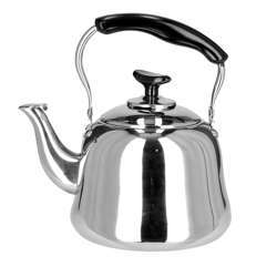 Royalford RF9564 1.5L Stainless Steel Whistling Kettle - Portable Whistling Tea Kettle With Heat Resistant Handle | Ergonomic Pouring Spout | Compatible With Gas, Induction, Hot Plate, Halogen, & Ceramic Tops