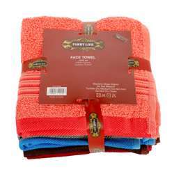 Parry Life PLFT9956 Cotton Beach Towel Brown/Blue/Grey/Cream/Red/Pink