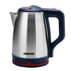 Geepas GK38042 1.8L Electric Kettle - Stainless Steel Cordless Kettle| Auto Shut-Off & Boil-Dry Protection | Heats Up Quickly & Easily | Boiler For Hot Water, Tea & Coffee Maker | 1500W | 2 Year Warranty
