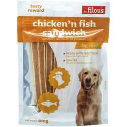Les Filous Chicken and Fish Sand 100g (1x6)