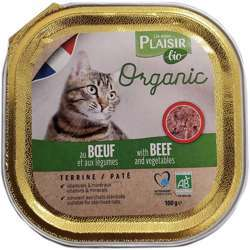 Plaisir Bio Terrine With Beef And Vegetables 100g (1x16)