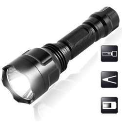 Hesham LED Rechargeable Metal Torch
