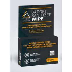 Life Armour Gadget Sanitizer Wipe Box of 15 Wipes - 54g