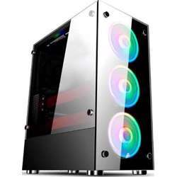 """1st Player Gaming Case V6 Case, Tempered Glass (Front And Left Side), Form Factor Atx/M- Atx, 3 Rgb Fans Build-In Case, Drive Bays 5.25"""" Cd Rom:0 3.5"""" Hdd:2 2.5"""" Ssd:2"""