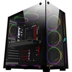 1st Player Steampunk-SP8 Full Atx Case, Tempered Glass, Fans Not Included, 360Mm Radiator Support