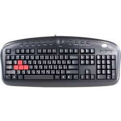 A4TECH Kb - 28G Gaming Keyboard, Connectivity USB/Ps2, Splash Proof, Laser Engraving Character, Eng/ Rus