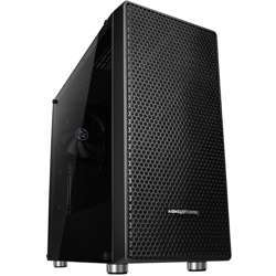 Abkoncore C650 Mini-Itx, Micro-Atx & Atx Motherboard Supported Computer Case, Riser Card Holder, Hdd/Ssd Multi Guide (2), Ssd Bracket (2), 120Mm Argb Fans (1) - Black