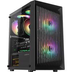 Abkoncore C200M Compact Cooling, With Side Panel Tempered Acrylic Glass, M-Atx, Mini-Itx, Mini Tower Case