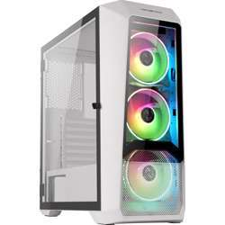 Abkoncore H300G Sync With Four Built-In Hr120 Spectrum Rgb Fans, Atx Mid-Tower Desktop Computer Gaming Case With USB 3.0 Ports, Tempered Glass Windows, Remote Controller And Hub