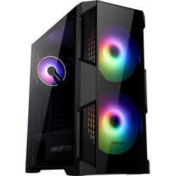 """Abkoncore Helios 500G Sync Rgb Case """"200Mm X2 Spectrum Sync Fan On Front 120Mm Hurricane Sync Fan On Rear With Sync Control Hub (Gigabyte, Msi, Asus Aura)"""" Tempered Glass For Left And Right Panel"""
