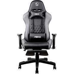 Abkoncore Agc21 Gaming Chair, Stuffing Material - Foam / Finishing Material , Pu Leather - Gray