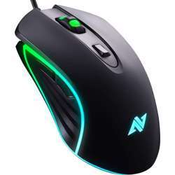 Abkoncore M30 Gaming Mouse Wired, USB Computer Mice For Game & Daily, 6 Programmable Buttons, Chroma Rgb Backlit, 3500 Dpi Adjustable