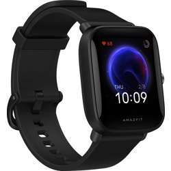 """Amazfit Bip U Smart Watch A2017, 1.43"""" Hd Color Display, Spo2 & Stress Monitor, 60+ Sports Modes, Breathing Training, 50+ Watch Faces - Black"""