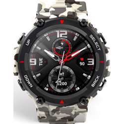 Huami Amazfit T-Rex Smart Watch With 20 Days Battery Life, Amoled Display, Built-In Gps, 12 Military Certifications, Water Resistance, 14 Sports Modes - Camo Green
