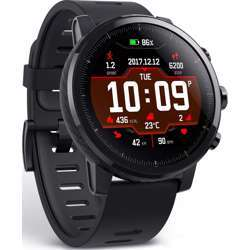 Amazfit Stratos 1.3-Inch Reflective Low Power Consumption Color Display With 15 Sports Mode, Black