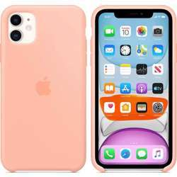 Apple Iphone Case, Wireless Chargers Compatible - For Iphone 11 - Silicone - Grapefruit