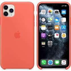 Apple Iphone Case, Hard Cover Wireless Chargers Compatible - For Iphone 11 Pro Max - Silicone - Clementine (Orange)