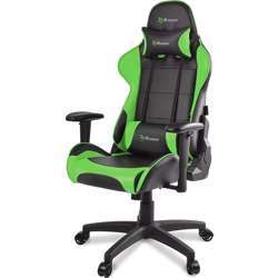 Arozzi Verona V2 Gaming Chair with High Backrest, Recliner, Swivel, Tilt, Rocker and Seat Height Adjustment, Lumbar and Headrest Pillows Included, Green