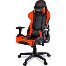 Arozzi VERONA-V2-OR Advanced Racing Style Gaming Chair with High Backrest, Recliner, Swivel, Tilt, Rocker and Seat Height Adjustment, Lumbar and Headrest Pillows Included - Orange