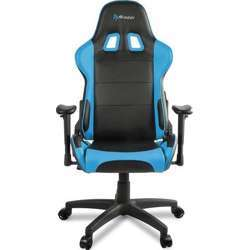 Arozzi Verona Advanced Racing Style Gaming Chair with High Backrest, Recliner, Swivel, Tilt, Rocker and Seat Height Adjustment, Lumbar and Headrest Pillows Included, Blue