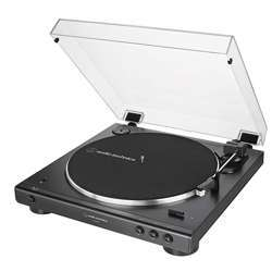 Audio-Technica At-Lp60Xbt-Bk Fully Automatic Bluetooth Belt-Drive Stereo Turntable, Black, Hi-Fidelity, Plays 33 -1/3 And 45 Rpm Vinyl Records, Dust Cover, Anti-Resonance, Die-Cast Aluminum Platter,