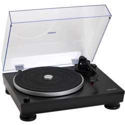 Audio-Technica At-Lp5 Direct-Drive Turntable, Anti-Resonance, Die-Cast Aluminum Platter, At95Ex Dual Moving Magnet Stereo, Black