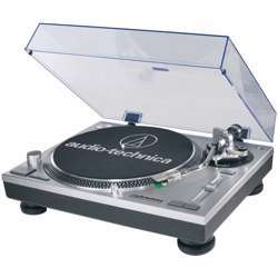 Audio-Technica At-Lp120-USB Direct-Drive Professional Turntable (USB & Analog), Selectable 33/45/78 Rpm Speeds, Professional Anti-Resonance, Die-Cast Aluminum Platter With Slip Mat