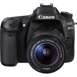 Canon EOS 80D DSLR Camera with Lens 18-55mm
