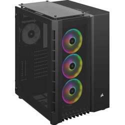 Corsair Crystal Series 680X Rgb Black Steel / Plastic High Airflow Tempered Glass Atx Smart Case, Three Included Ll120 Rgb Fans, Support Upto 360Mm Radiator