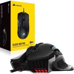 Corsair Glaive Rgb Pro 18,000 Dpi Fps/Moba Optical Wired Gaming Mouse (Black)