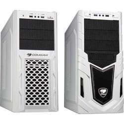 Cougar Solution-AF2 White Steel ATX Mid Tower Computer Case with 12cm Cougar TURBINE HYPER-SPIN Bearing Silent Fan and USB 3.0 Bare Drive - CG-Solution-AF2 White
