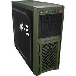 Cougar Solution-AF2 Black Steel ATX Mid Tower Computer Case with 12cm Cougar TURBINE HYPER-SPIN Bearing Silent Fan and USB 3.0 Bare Drive - CG-Solution-AF2 Black