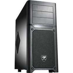 Cougar MX500 Black Steel ATX Mid Tower Computer Case with two 12cm Cougar TURBINE HYPER-SPIN Bearing Silent Fan and USB 3.0 - CG-MX500