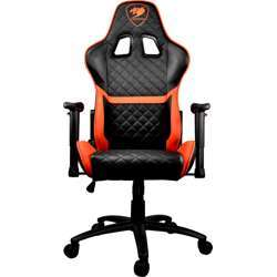 Cougar Armor One Gaming Chair (180 Reclining And Height Adjustment) – Black And Orange Cgr-Armor-One-Blk/Org