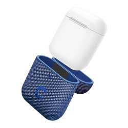 Cygnett Tekview Protective Airpods Case With Superior Impact Absorption, Slip-Resistant Fabric, Protective Hard Case Cover Portable For Airpods Gen 1 & 2 Wireless Friendly Case - Navy/Blue