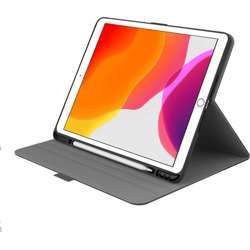 """Cygnett Teck-View Slim-Line Case With Apple Pencil Holder, Light-Weight Design, Auto Sleep/Wake, Magnetic Close Tab And 360° Protection For Ipad 10.2"""" - Grey/Black"""