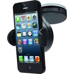 Cygnett Car Mount Adjustable Angle, Case-Friendly, Strong Suction Capabilities - All Phones + Small Gps Units And Mp3 Players - Black