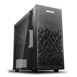 Deepcool Matrexx 30 Micro Atx Chassis, Tempered Glass, 1X 120Mm Fan, 4 Cooling Fans Support, Pre-Installed: 1×120Mm Black Fan At Rear, Usb 3.0, Black