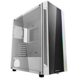 Deepcool Matrexx 55 Add-Rgb White Atx Mid-Tower Case Full-Size Tempered Glass Motherboard, Sync Control Add-Rgb Lighting System, No Fan Pre-Install, Tempered Glass Side Panel