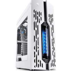 Deepcool Genome Ii Pc Gaming Atx Case With Aio High-Resolution Led Liquid Heatsink System And Pcie, White And Blue Color