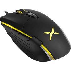 DELUX M522Bu Wired Fps Gaming Mouse, Rgb Customizable Lights, 22G Acc, 6000 Fps, 7 Programmable Buttons, Dpi Upto 6400, Equipped With Office & Game Mode, Black