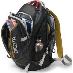 Dicota Backpack Active 14-15.6 Laptop Bag With Sporty Outdoor Design Black/Yellow
